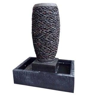 River Pebble Stone Urn Fountain