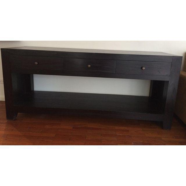 Indonesian Teak Console Table - Image 3 of 8