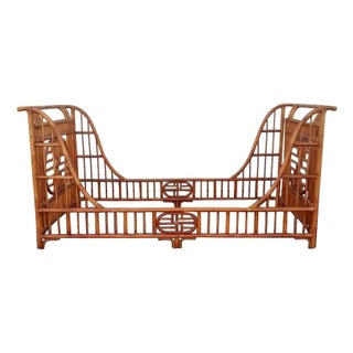 Chinoiserie Rattan Twin Daybed