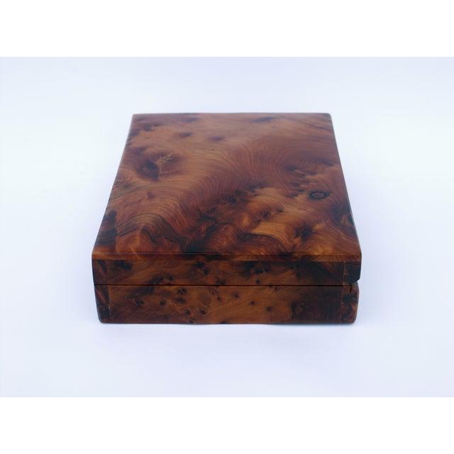 Decorative Juniper Burl Wood Box - Image 6 of 8