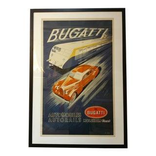 Bugatti Automobiles & Autorails Original 1935 Poster