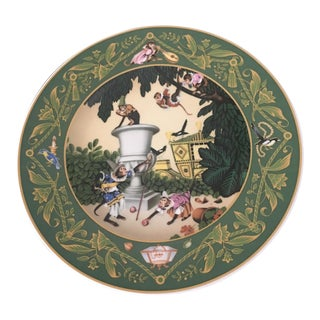 'French Fairy Tales: Monkeys in the Garden' Wall Plate