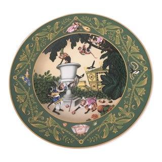 'French Fairy Tales: Monkeys in the Garden' Wall Plate