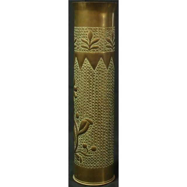 Antique Belgian Militaria Shell Case Brass Vases - Image 5 of 8
