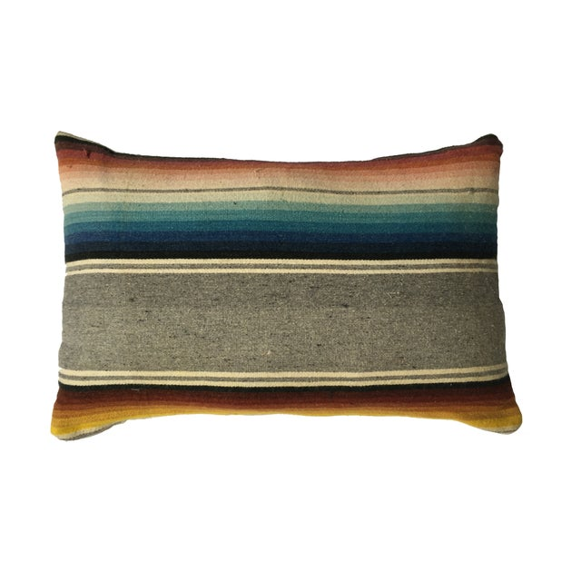 Image of Vintage Mexican Serape Pillow