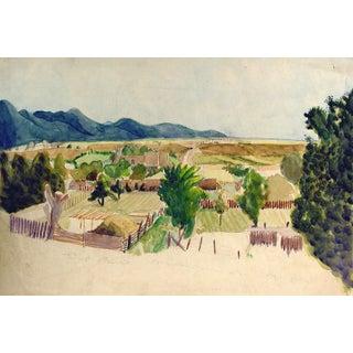 Valley Landscape Watercolor