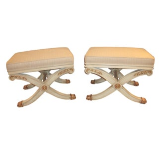Maison Jansen Style X-Form Benches - A Pair