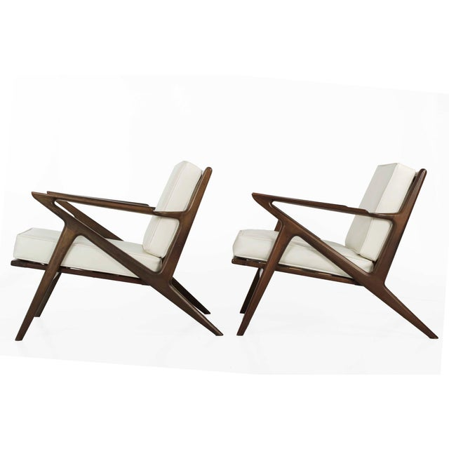 Poul jensen for selig danish modern z lounge chairs for Poul jensen z chair