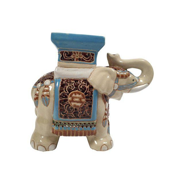 Ceramic Elephant Plant Stand - Image 3 of 4