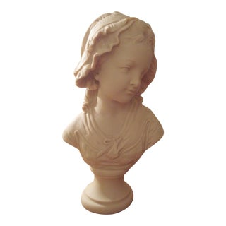 Parisian Bust of a Woman, Marble Composition