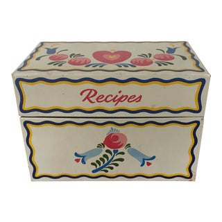 Vintage Tin Recipe Box