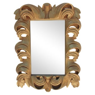 Dorothy Draper-Style Carved Wall Mirror