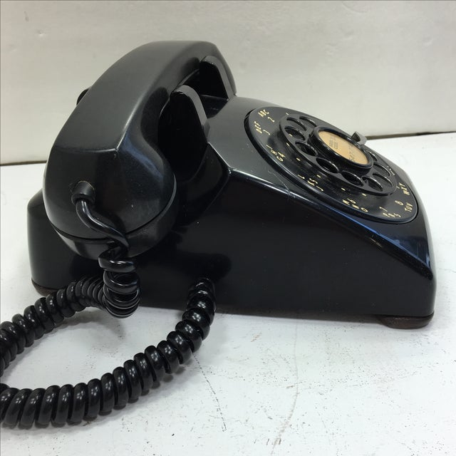 Vintage 1950s Black Rotary Dial Telephone - Image 3 of 11