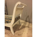 Image of Antique 1920s White Directoire Style Chaise Lounge