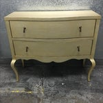 Image of Two Drawer Dresser with Metallic Finish