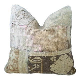 Vintage Turkish Rug Fragment Pillow