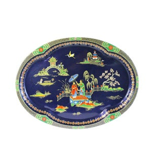 Chinoiserie Steel Serving Tray