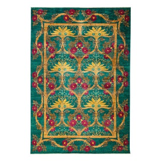"Arts & Crafts, Hand Knotted Area Rug - 8'10"" X 12'9"""