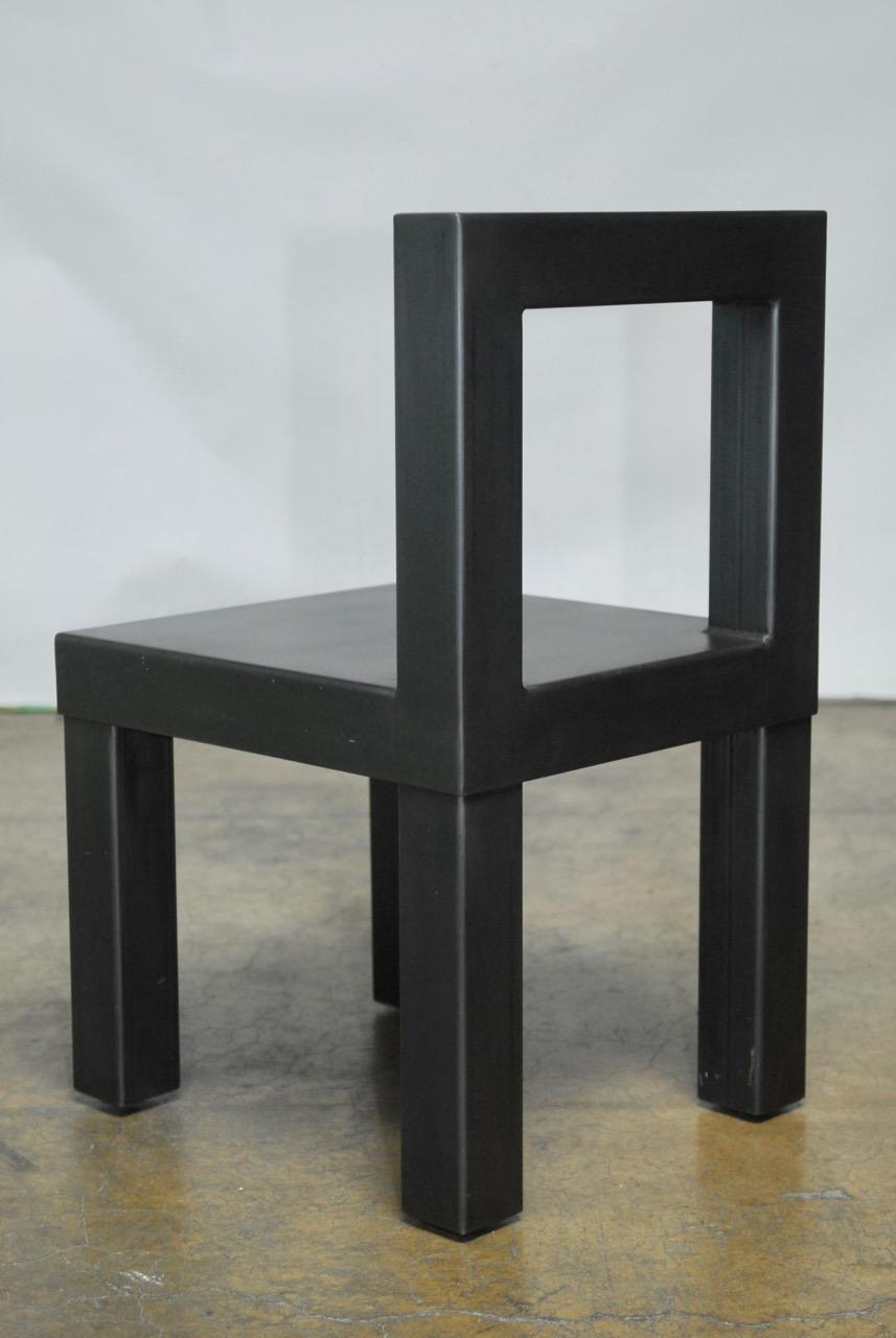 Gunmetal Gray Steel Modern Industrial Dining Chairs Set  : gunmetal gray steel modern industrial dining chairs set of 4 4034aspectfitampwidth640ampheight640 from www.chairish.com size 640 x 640 jpeg 27kB