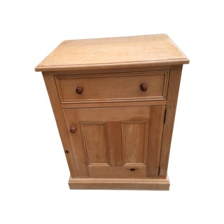 Solid Pine Cabinet Side Table
