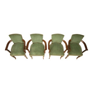 Vintage French Art Deco Gaming Bridge Chairs - Set of 4