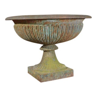 Large 19th c. French Cast Iron Urn