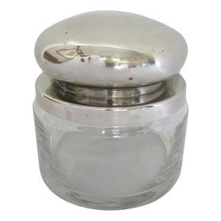 Vintage Glass Jar & Silver Lid
