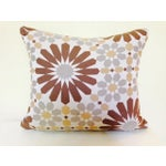 Image of Abstract Geometric Mid-Century Pillow