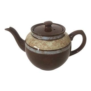 Vintage Mid-Century Sadler Ceramic Striped Teapot Made in England
