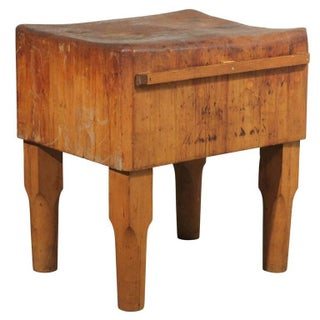 Antique American Butcher Block Table