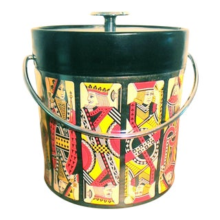 Mid-Century Card Theme Ice Bucket