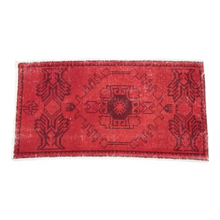 Turkish Over Dyes Red Color Rug - 2' 10'' X 1' 7''