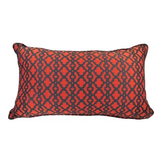Red & Black Latice Style Kidney Pillow