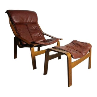 Vintage Westnofa Chair With Ottoman