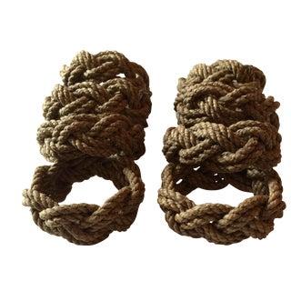 Nautical Knot Rope Napkin Holders - Set of 8
