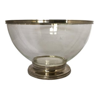 Godinger Footed Clear Polymer & Silver Bowl