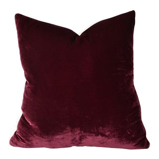 Kravet Silk Velvet Merlot Pillow