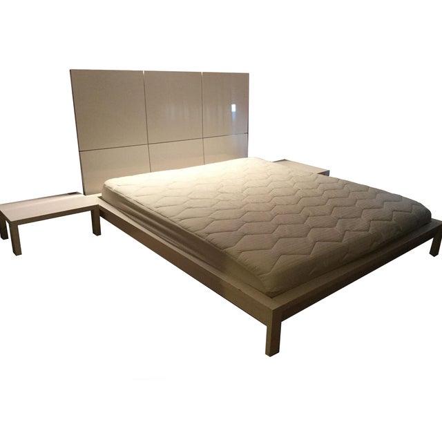 ligne roset lumeo bedframe headboard nightstands chairish. Black Bedroom Furniture Sets. Home Design Ideas