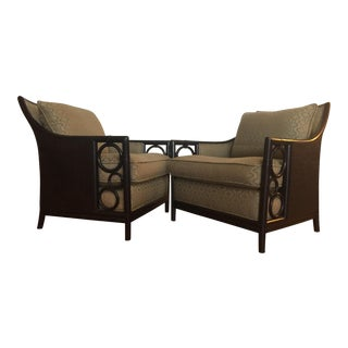 McGuire Laura Kirar Lounge Chairs - A Pair