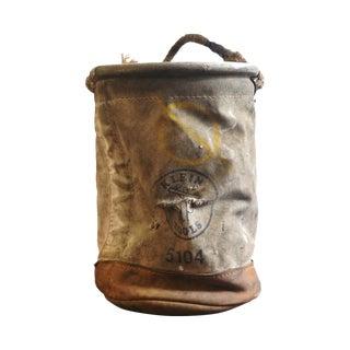 Vintage Lineman's Canvas Bucket