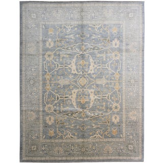 """Hand Knotted Oushak Rug - 10'0"""" X 8'6"""""""