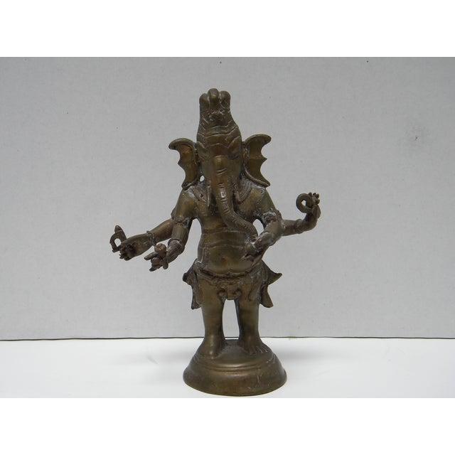 Image of Vintage Bronze Ganesha Figure