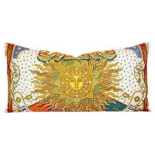 French Hermes Joachim Metz Silk Sun Pillow