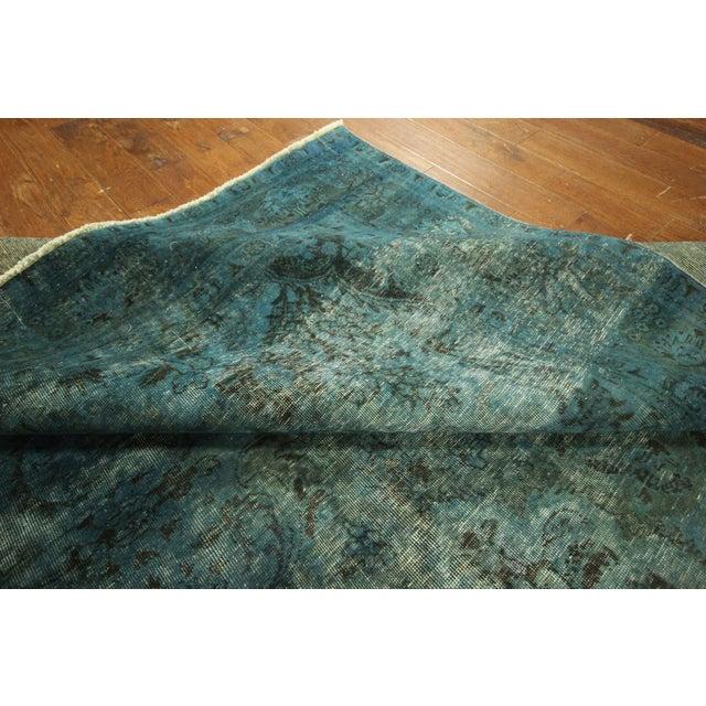 Irani Persian Blue Overdyed Wool Rug - 10'X13' - Image 6 of 8