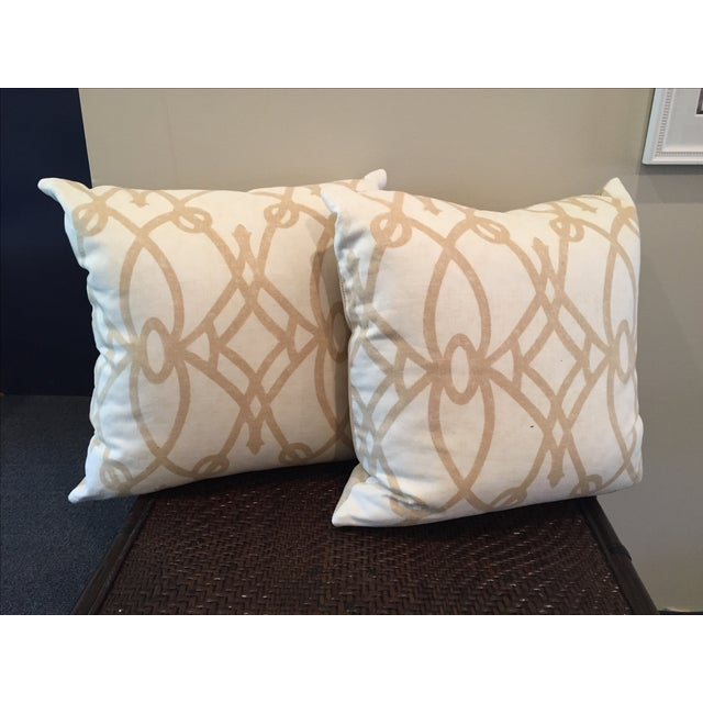 Black White Tan Throw Pillows : Tan and White Throw Pillows - A Pair Chairish