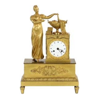 Napoleon III Figural Mantel Clock
