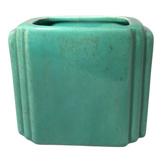 Art Deco Teal Vase