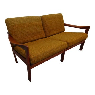 Illum Wikkelso Danish Modern Teak Loveseat or Settee