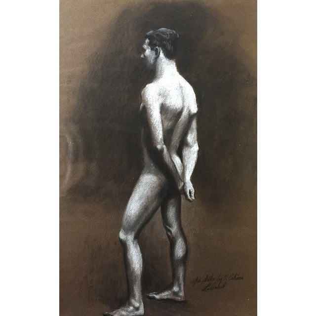 Image of Standing Male Nude by Thad Leland, Mid Century