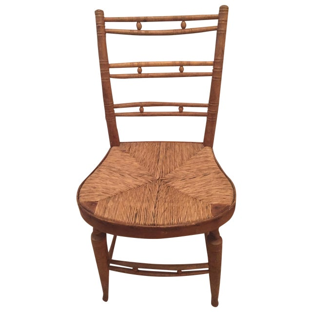 French Country Ladderback Chair - Image 1 of 7